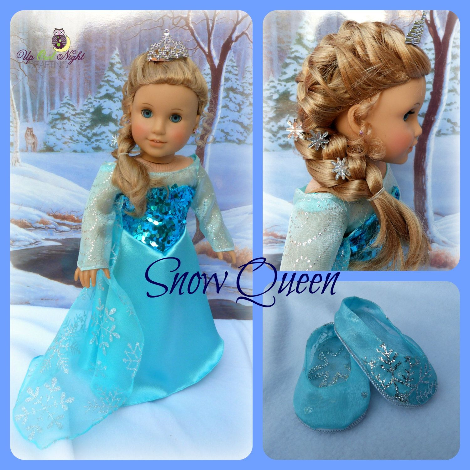 "New Snow Queen Elsa Anna Princess Doll Clothes Fit For 18/"" American Girl Doll"