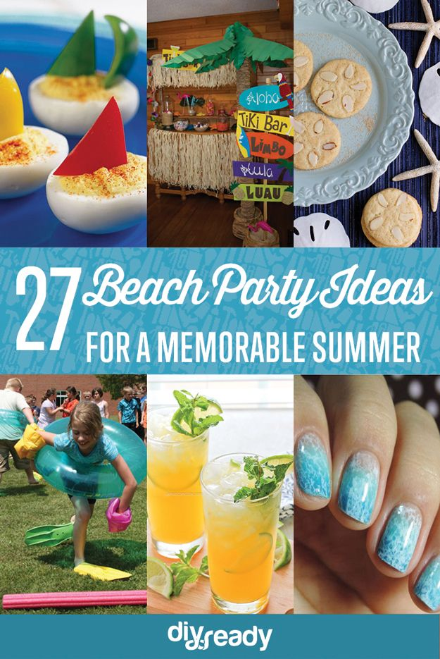 diy beach party ideas for your beach themed celebration luau luau