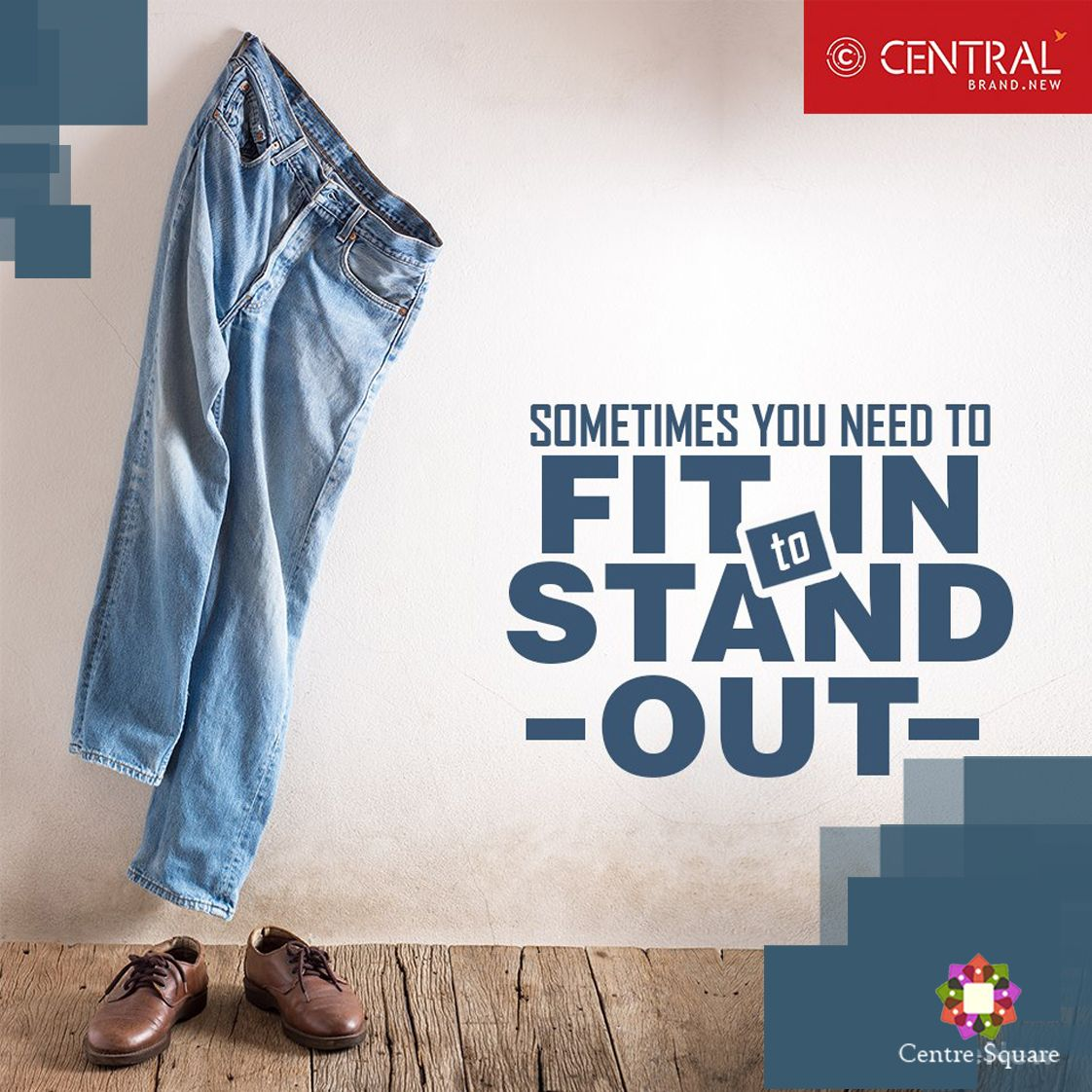Slip in your favorite pair of denims and get going! #NothingLikeNew #Central #CentreSquare