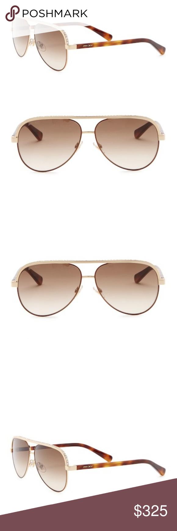 906e225eece Jimmy Choo Aviator Sunglasses NWT Authentic Jimmy Choo Aviator Sunglasses -  Size  59-12