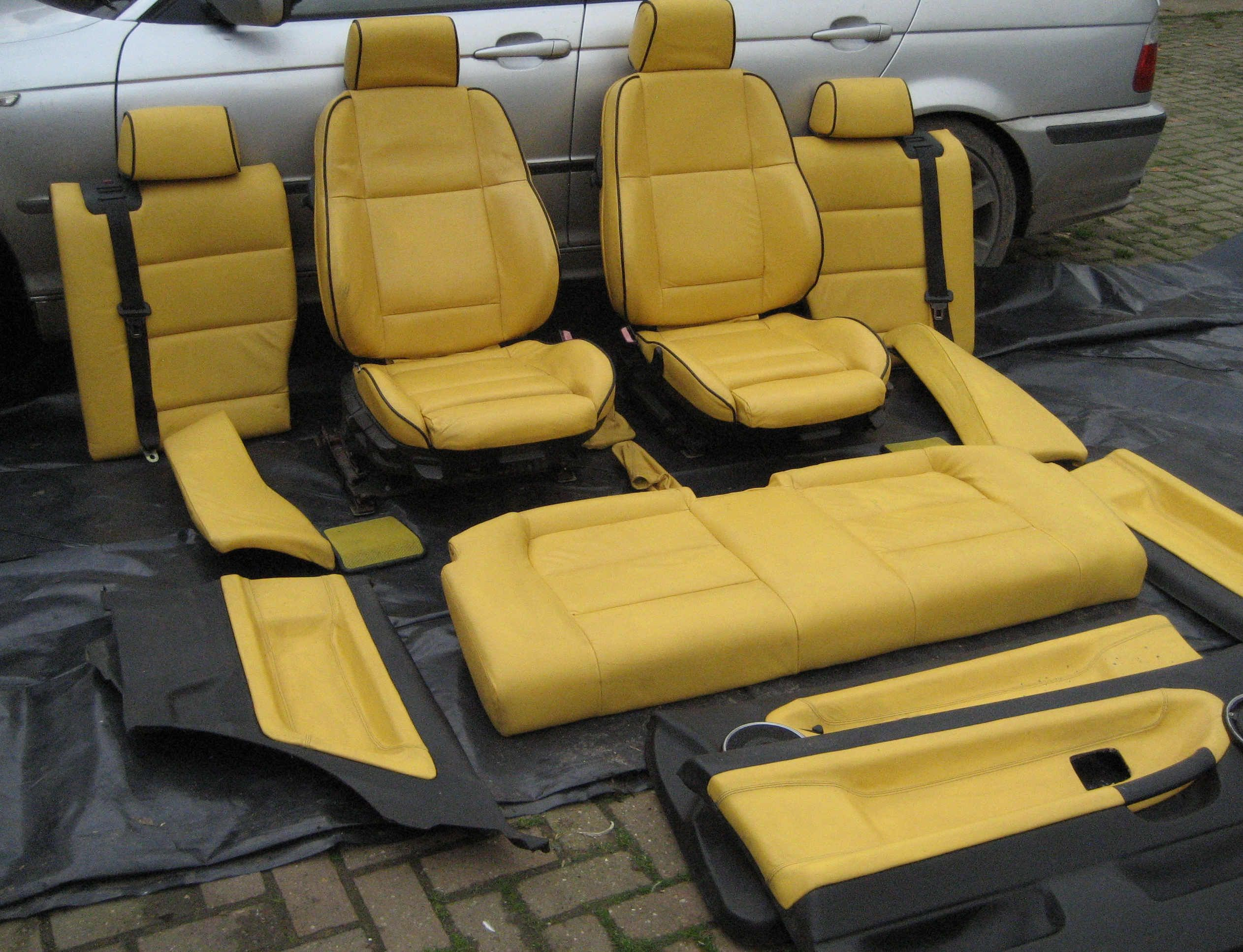 E36 Coupe Full Leather Yellow And Black Interior Fs In Uk Midlands
