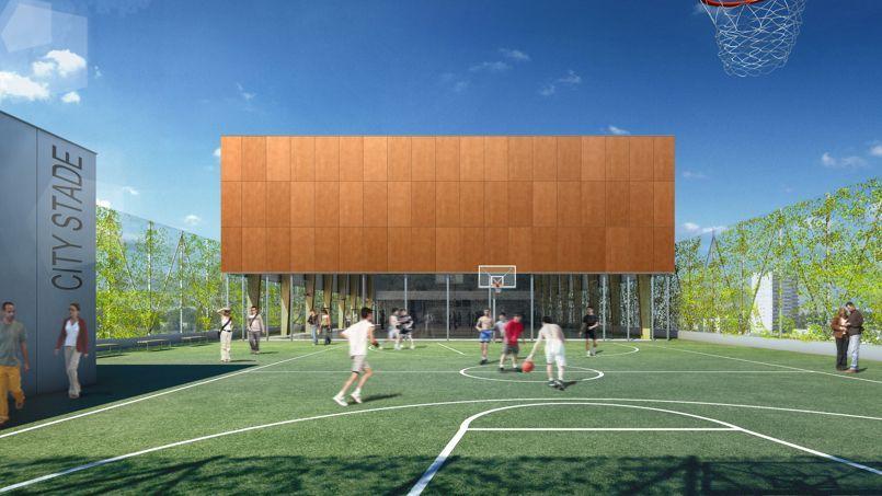À Bordeaux, un «citystade» sur le toit d'une école de