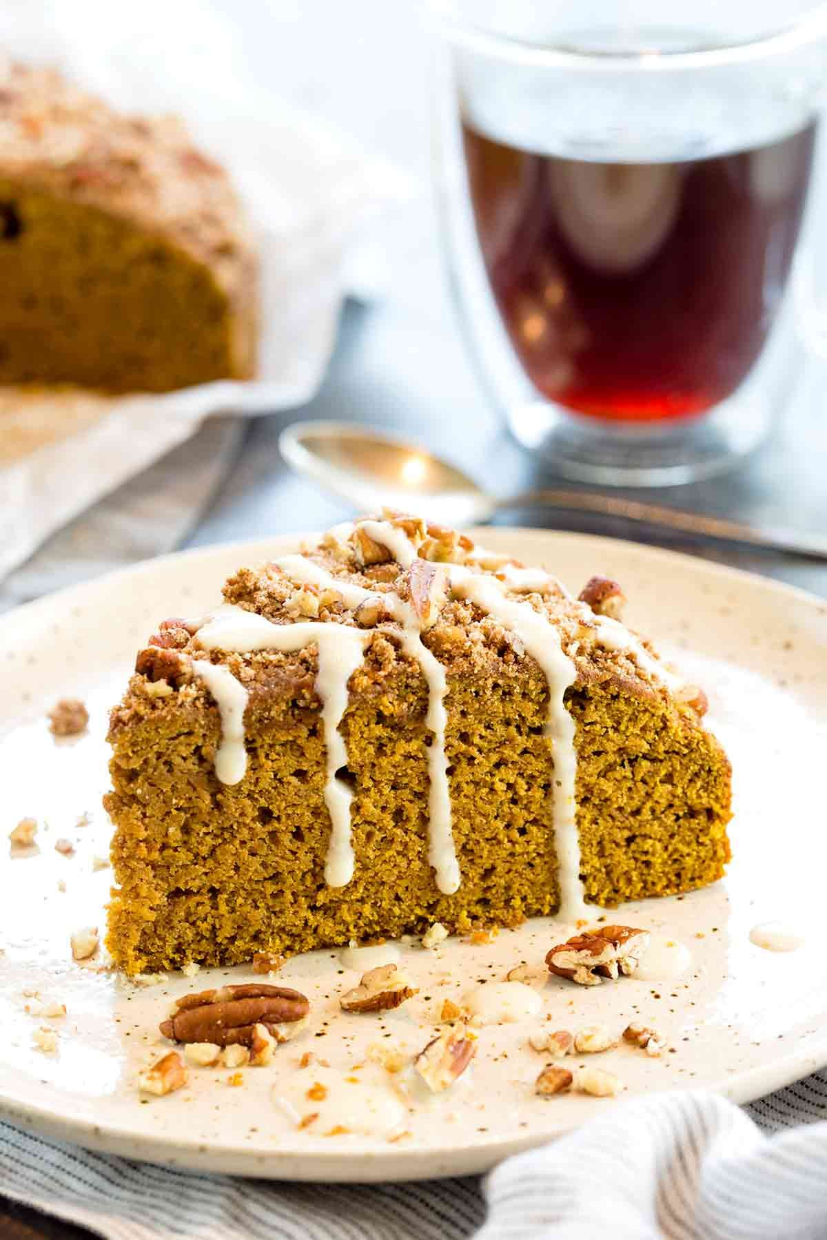 Lightened Up Pumpkin Coffee Cake Recipe Pumpkin coffee