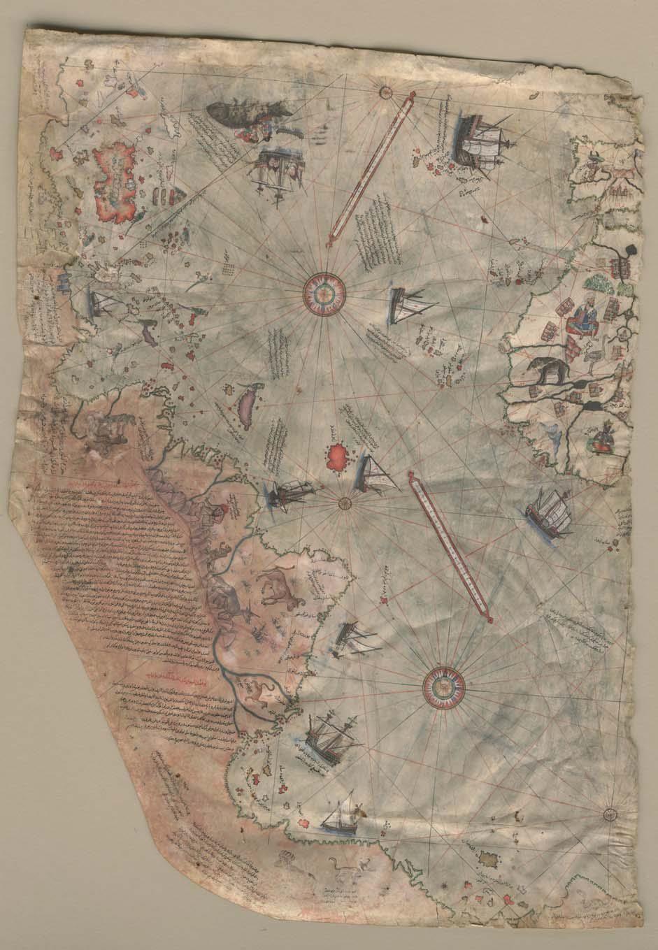 Piri Reis\'in 1513 tarihli Dünya Haritası | Pîrî Reis Dünya Haritası ...