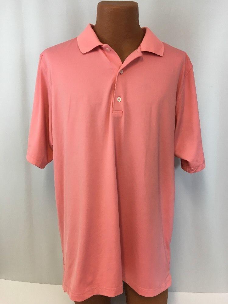 F   G Tech Golf Shirt XL Pink Men s Polo Polyester Spandex Soft Stretchy   FGTech 320832a13