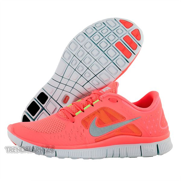 NIKE FREE RUN+ 3 WOMEN LAUFSCHUHE HOT PUNCH 510643 600 DAMEN