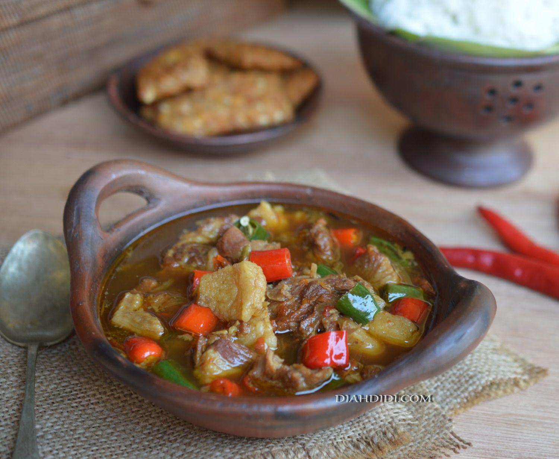 Diah Didi S Kitchen Asem Asem Daging Wonogiri Resep Masakan Pedas Resep Masakan Masakan