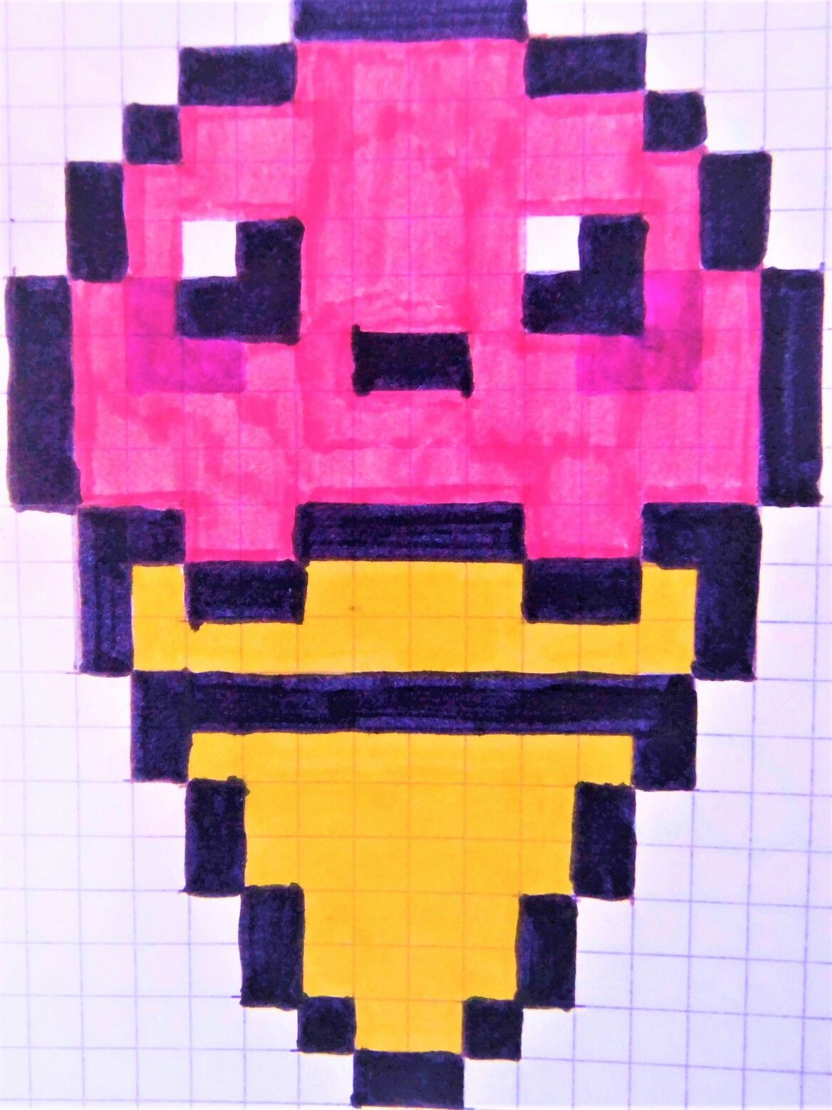 Pixel Art Glace 3 Boules