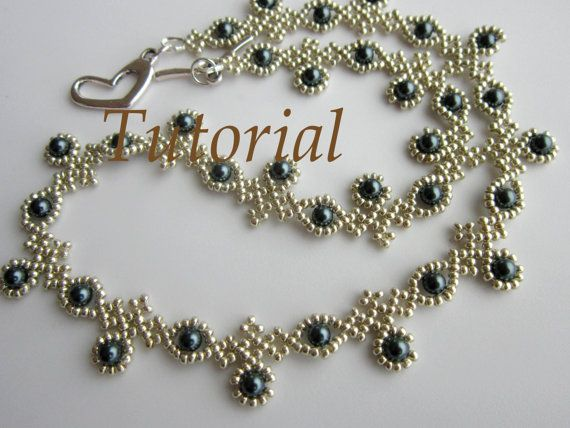 PDF Beaded Necklace With SWAROVSKY Pearl Seed Bead Necklace Adorable Beaded Necklace Patterns