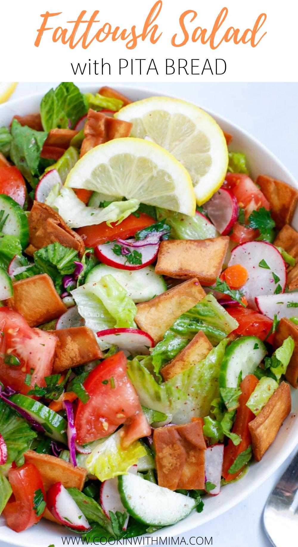 Lebanese Fattoush Salad Fattoush Salad Salad Stuffed Peppers