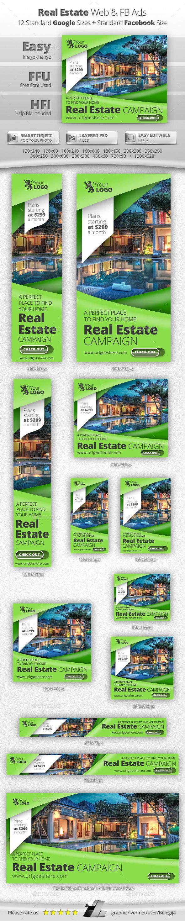 Real estate billboard design samples - Real Estate Web Facebook Banners