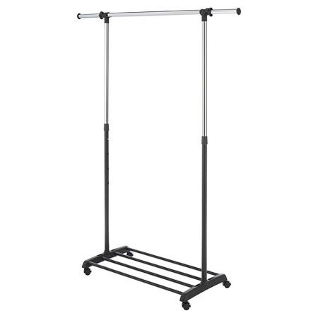 Target Clothes Hangers Delectable Whitmor Deluxe Adjustable Garment Rack  Black  Garment Racks Design Ideas