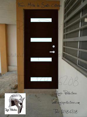 Puerta principal contempor nea de hierro fracc misi n de - Puertas de hierro para exterior ...