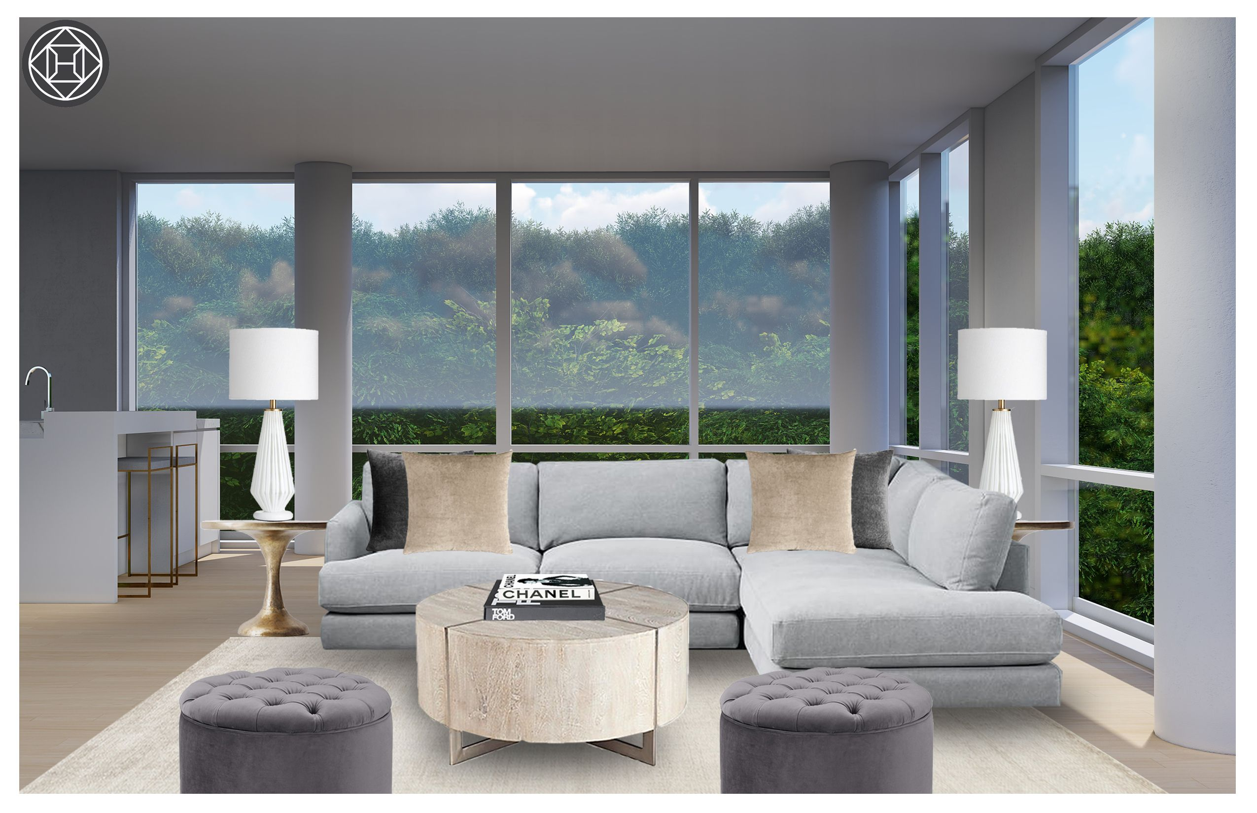 Glam Living Room Design By Havenly