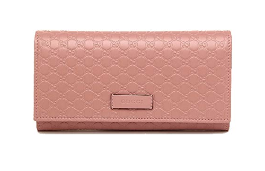 3151df38120 Gucci Women s Signature GG Micro Guccissima Continental Flap Long Bifold  Leather Wallet - Soft Pink 449396 BMJ1G 5806  gucci  gucciwallet  designer  ...