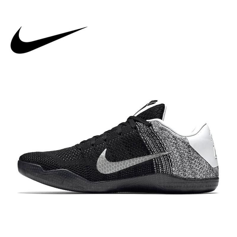 reputable site dd78c 3cffb Original Authentic Nike Kobe 11 Elite Zoom Air Low Mens Breathable  Basketball Shoes Sports Sneakers Non