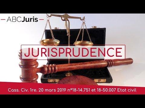 Cass Civ 1re 20 Mars 2019 N 18 14 751 Et No 18 50 007 Etat Civil Youtube Etat Civil Droit International Prive Execution