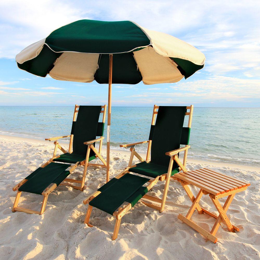beach chair and umbrella set