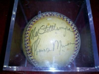 NY Yankees Autographed-Thurman Munson, Mel Stitlmeyer, Whitey Ford and More