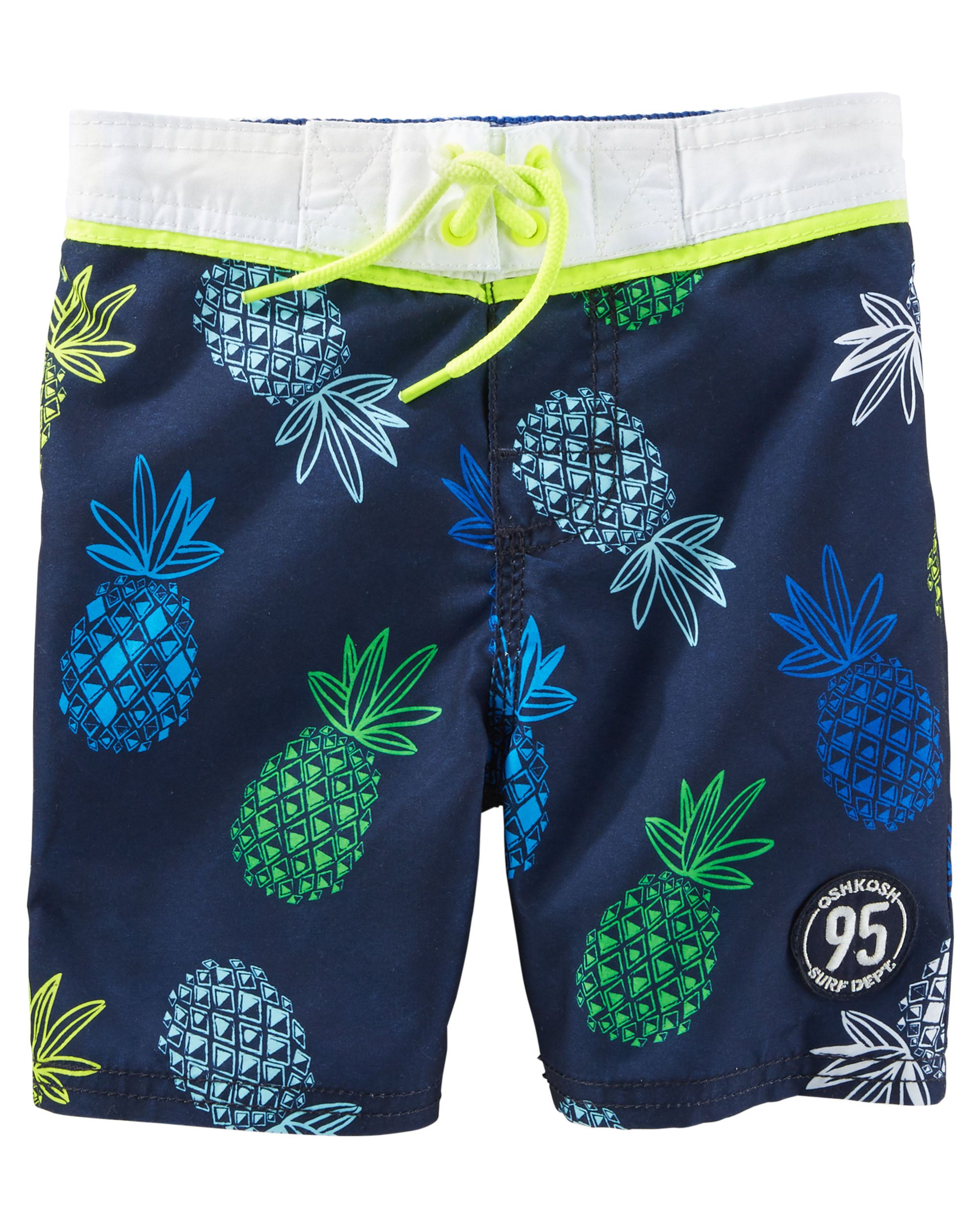 e911e78097a Kid Boy OshKosh Pineapple Print Swim Trunks from OshKosh B gosh. Shop  clothing   accessories from a trusted name in kids
