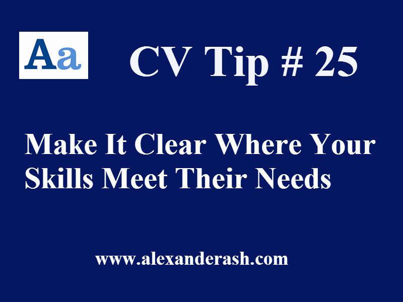 CVtip no 25 Tailoring your #CV / #Resume to suit the requirements of - resume requirements