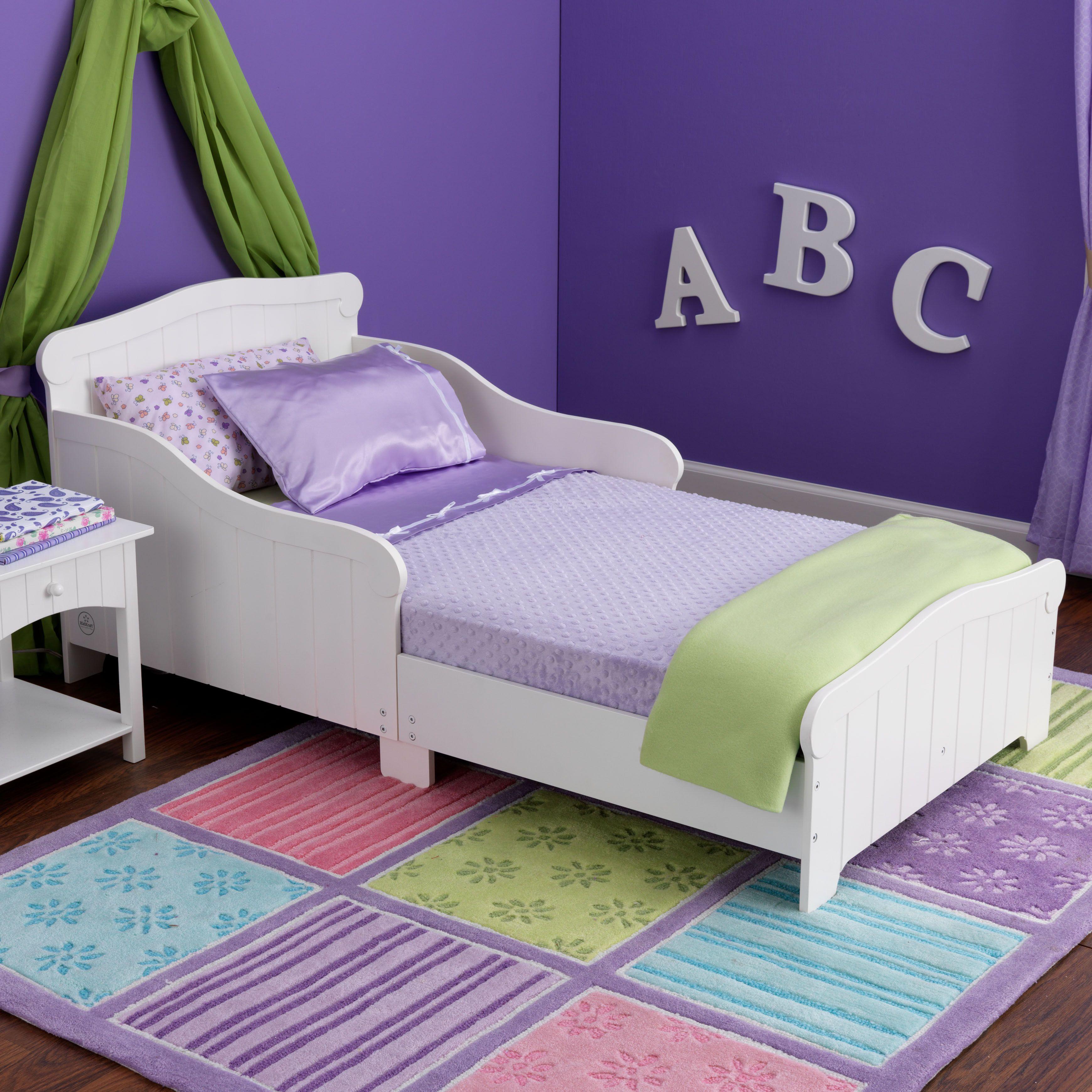 KidKraft Nantucket White Toddler Bed By
