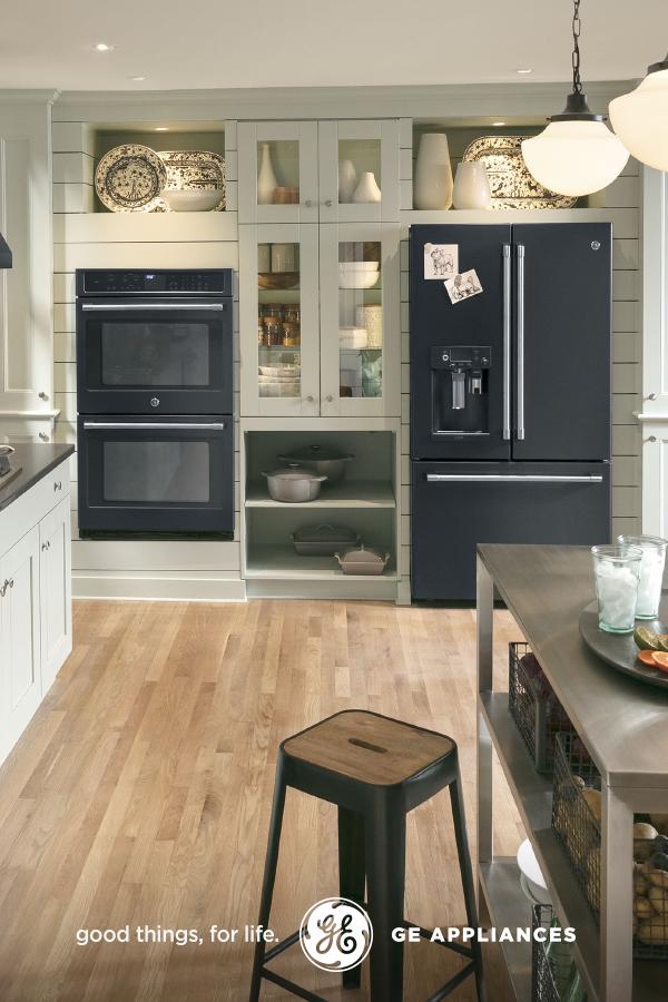black slate appliances set off light