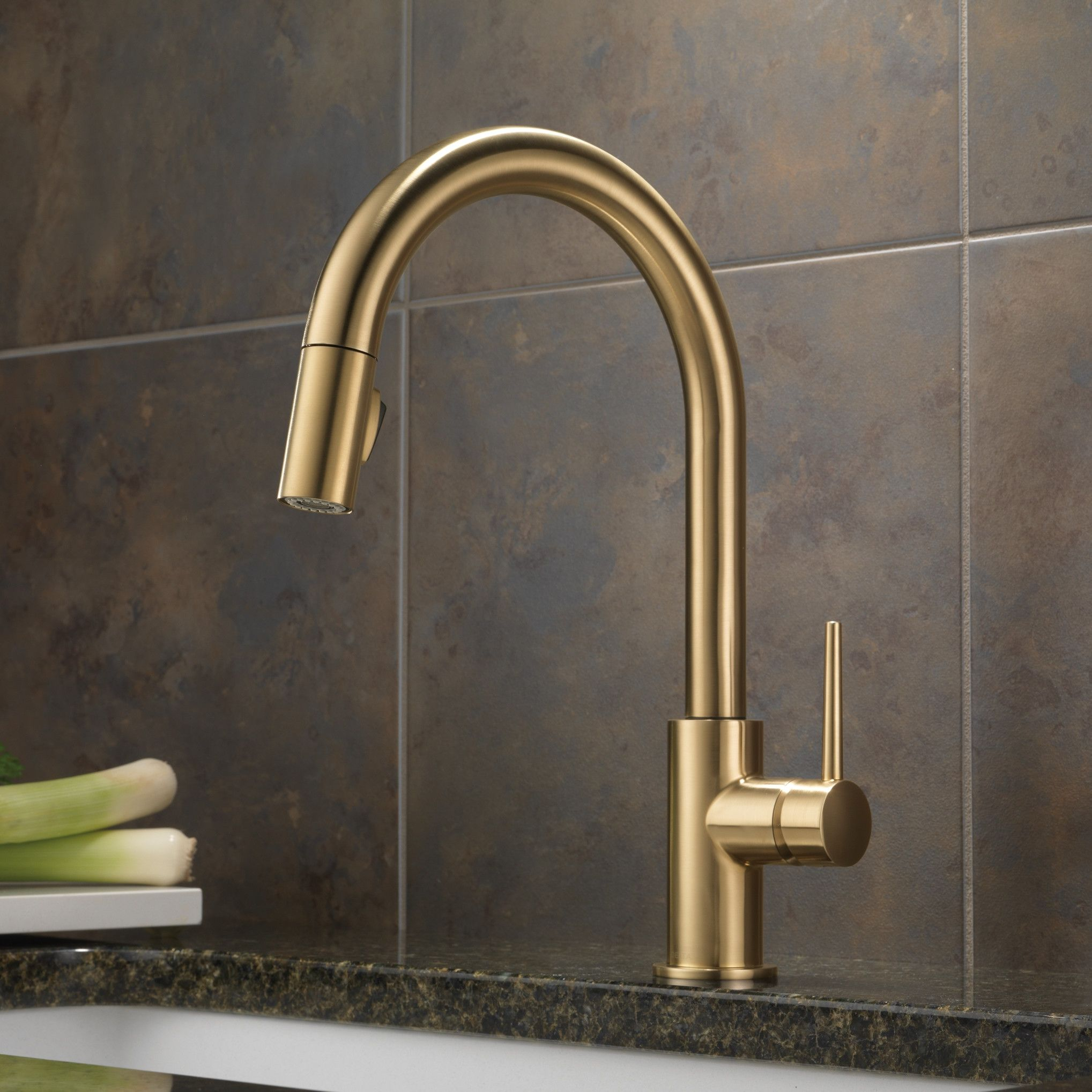 trinsic of new picture faucet delta kitchen bronze champagne
