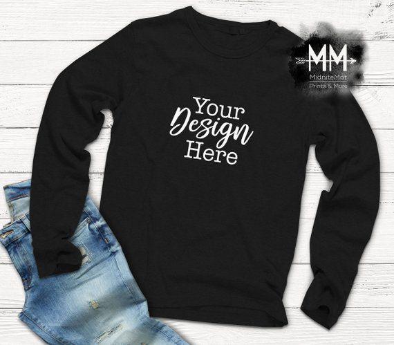 t shirt mockup long sleeve black shirt display apparel mockup