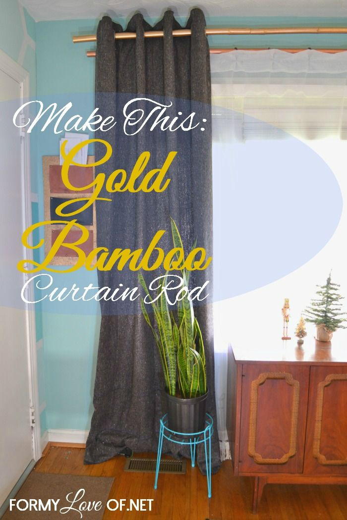 Make This Gold Bamboo Curtain Rod AWESOME Blogs To
