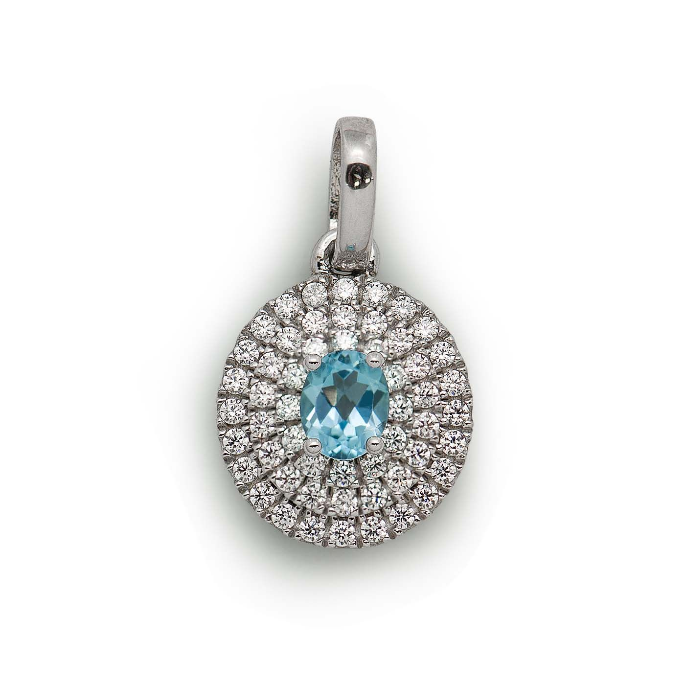 Ct oval swiss blue topaz sterling silver elegant royal