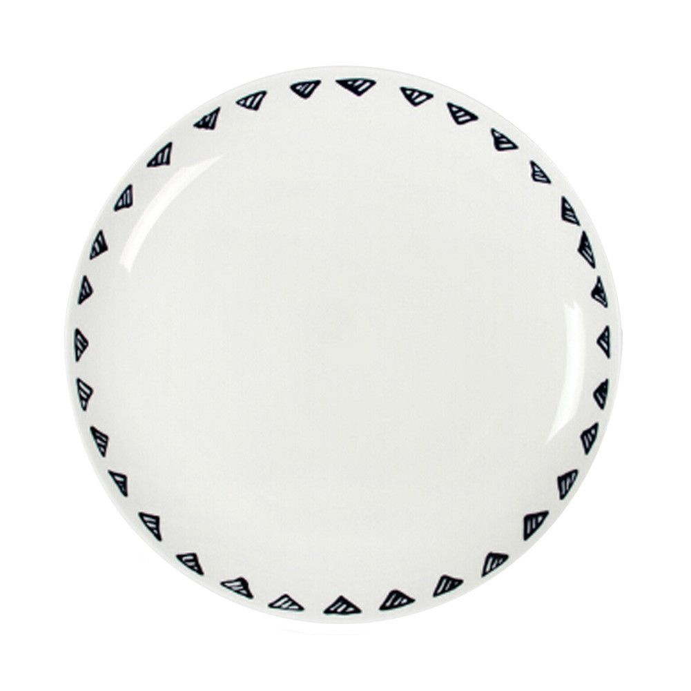 Round Pastry Breakfast Lunch Dinnerware Party Plates Small Triangle Pattern