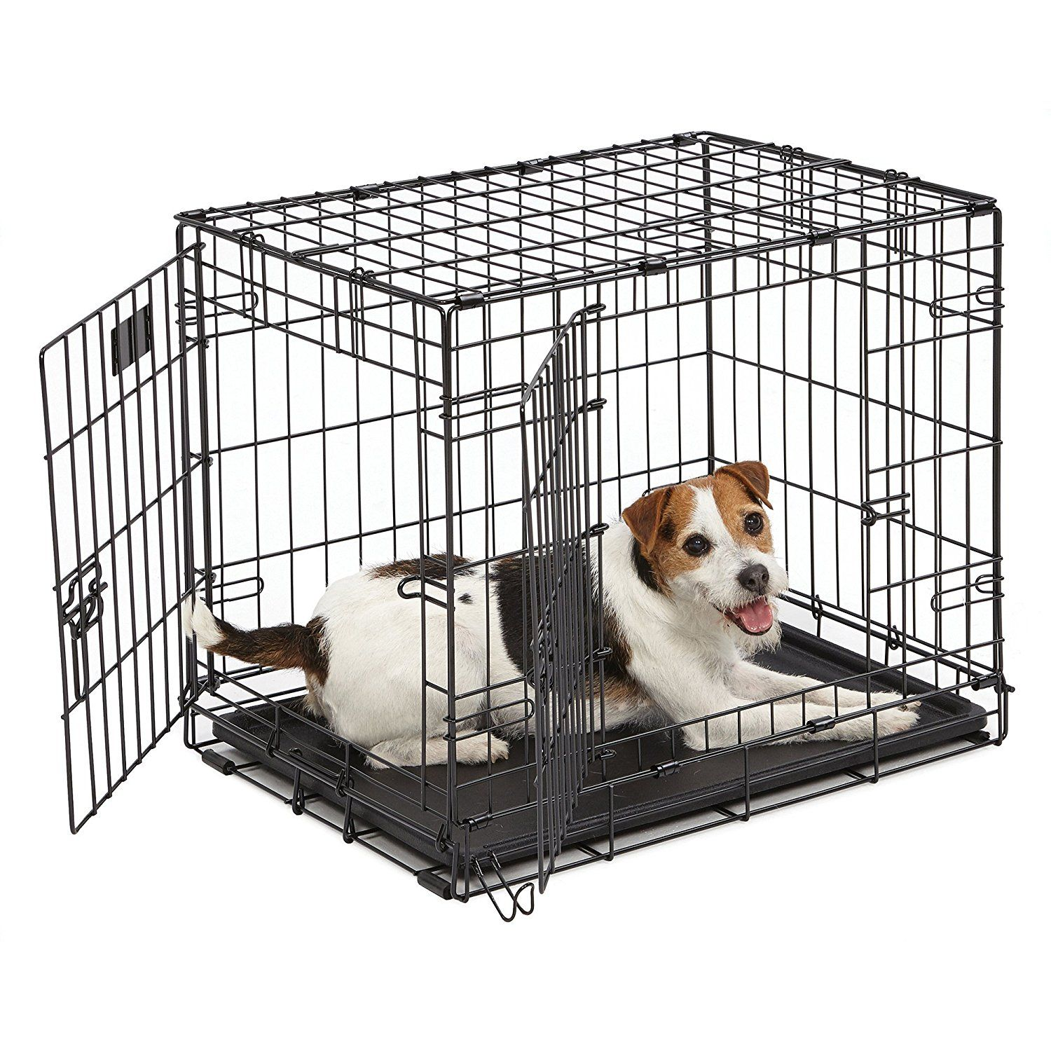 Midwest Icrate Dbl Door Folding Dog Crate 24x18x19 Be Sure To Check Out This Awesome Product This Is An A Dog Playpen Dog Cages