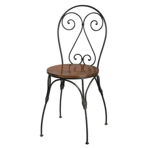 chaise cœur en bois de sheesham massif