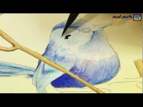 How to Paint a Fairy Wren in Watercolour Paint by Mont Marte