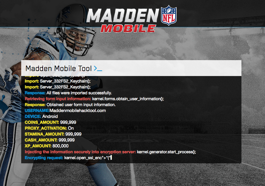 the all new madden mobile hack that allows you to get as many coins
