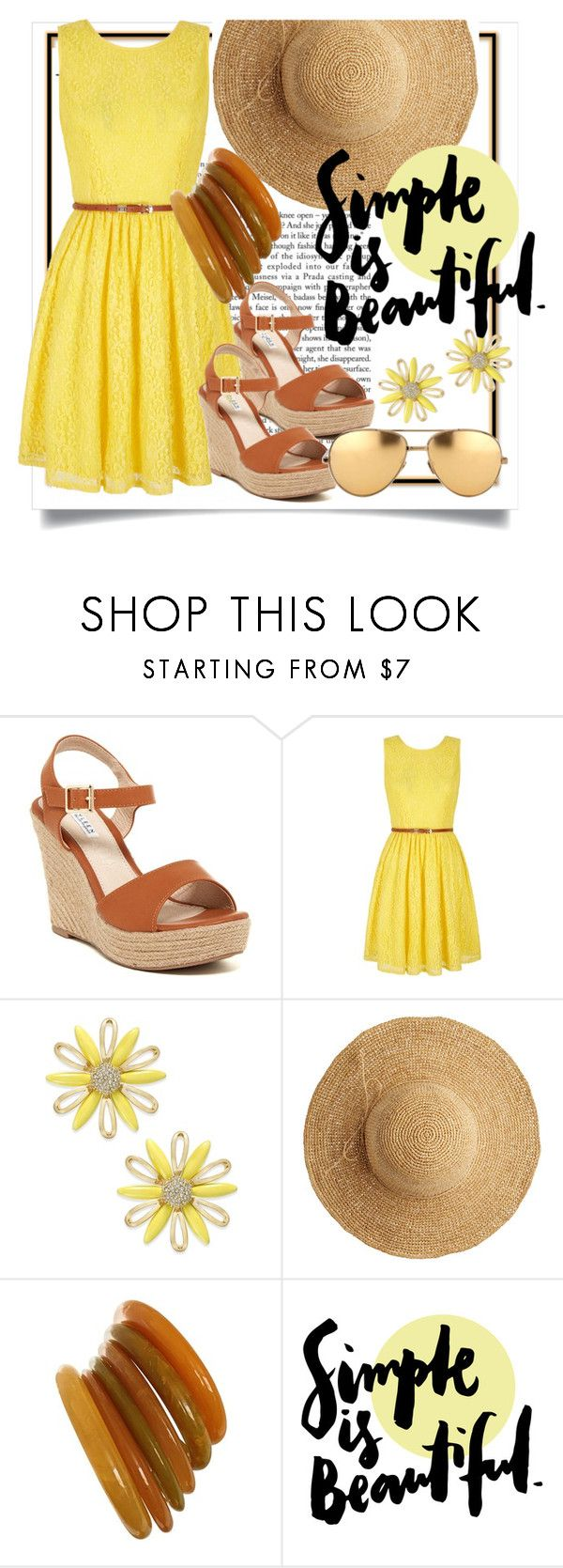 """Simple is beautiful"" by francesca-fashiongraphic ❤ liked on Polyvore featuring Yumi, Kate Spade, Flora Bella and Linda Farrow"