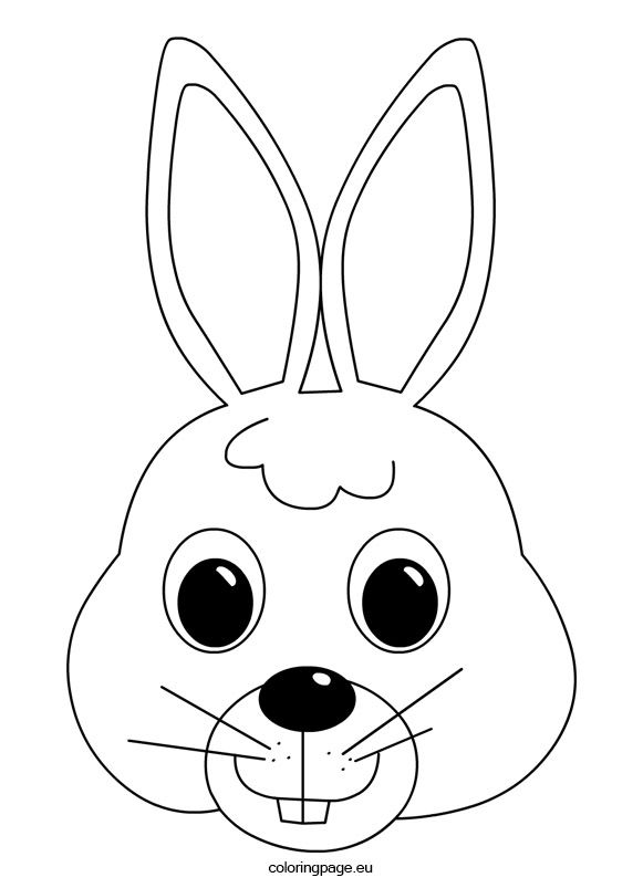 Bunny Mask Coloring Page Coloring Page Bunny Coloring Pages Monkey Coloring Pages Bunny Face
