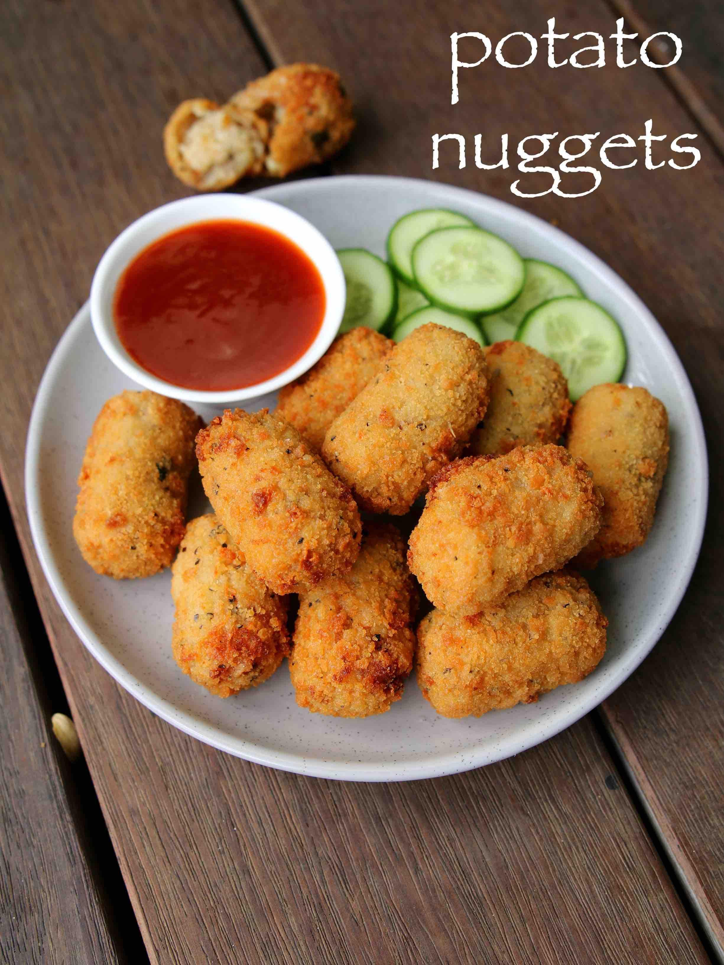 potato nuggets recipe | spicy potato nuggets | pot