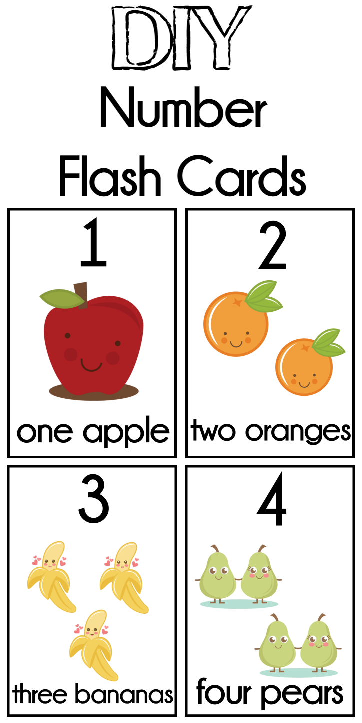 DIY Number Flash Cards FREE Printable Flashcards for