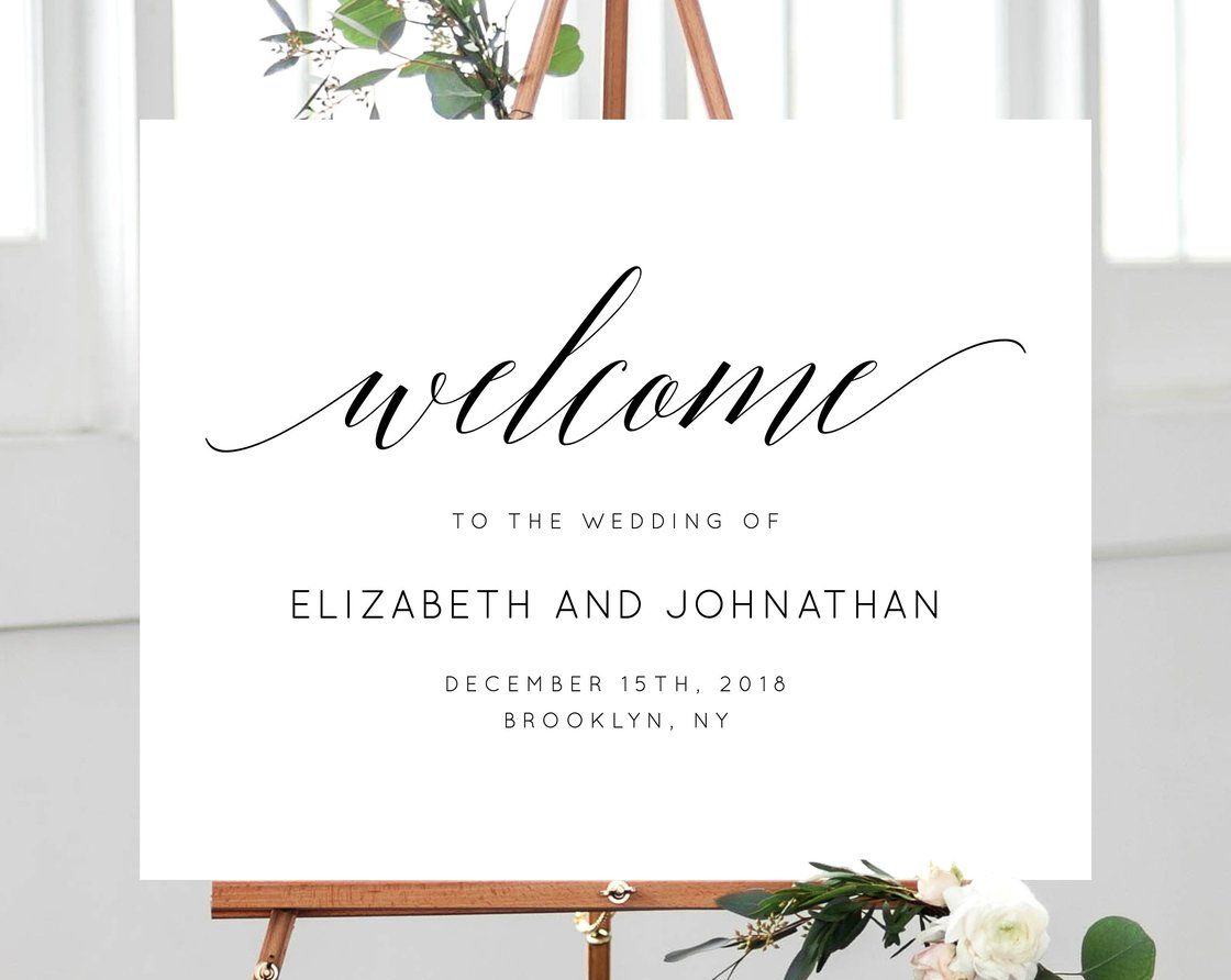 Wedding Welcome Sign Template Welcome To The Wedding Printable Welcome Board Simple Wedding Sign Ins Wedding Welcome Signs Wedding Printables Wedding Signs