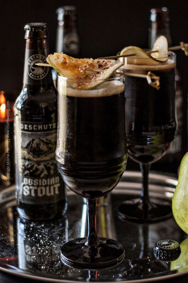 Dragonglass Cocktail With Obsidian Stout Recipe Beer Cocktail Recipes Stout Stout Beer Recipes