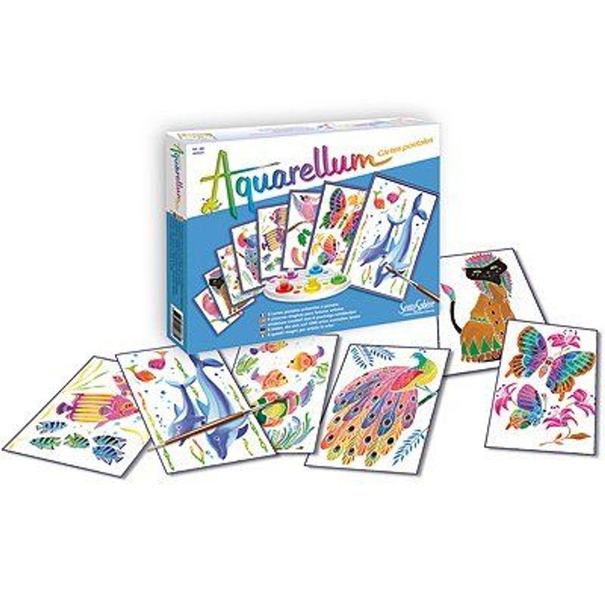 Aquarellum Cartes Postales Animaux Postale Cartes Et Jeux Eveil