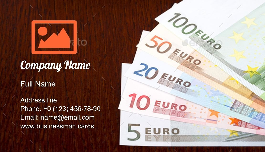 Euro Money Exchange Business Card Template Business Card Template Download Business Card Card Template