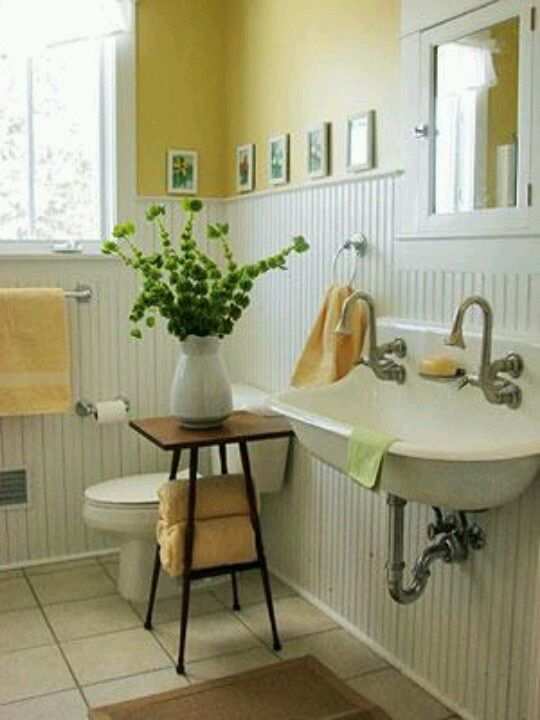 15 Beautiful Ideas How To Decorate Vintage Bathroom Beadboard Bathroom Cottage Bathroom White Beadboard
