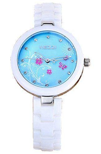 Kezzi Women's Watches K1221 Fashion Luxury Quartz Analog Blue Floral Dial Ceramic Bracelet Silver Wrist Watch Kezzi http://www.amazon.com/dp/B012BV79M2/ref=cm_sw_r_pi_dp_ABkSvb07WDXYT