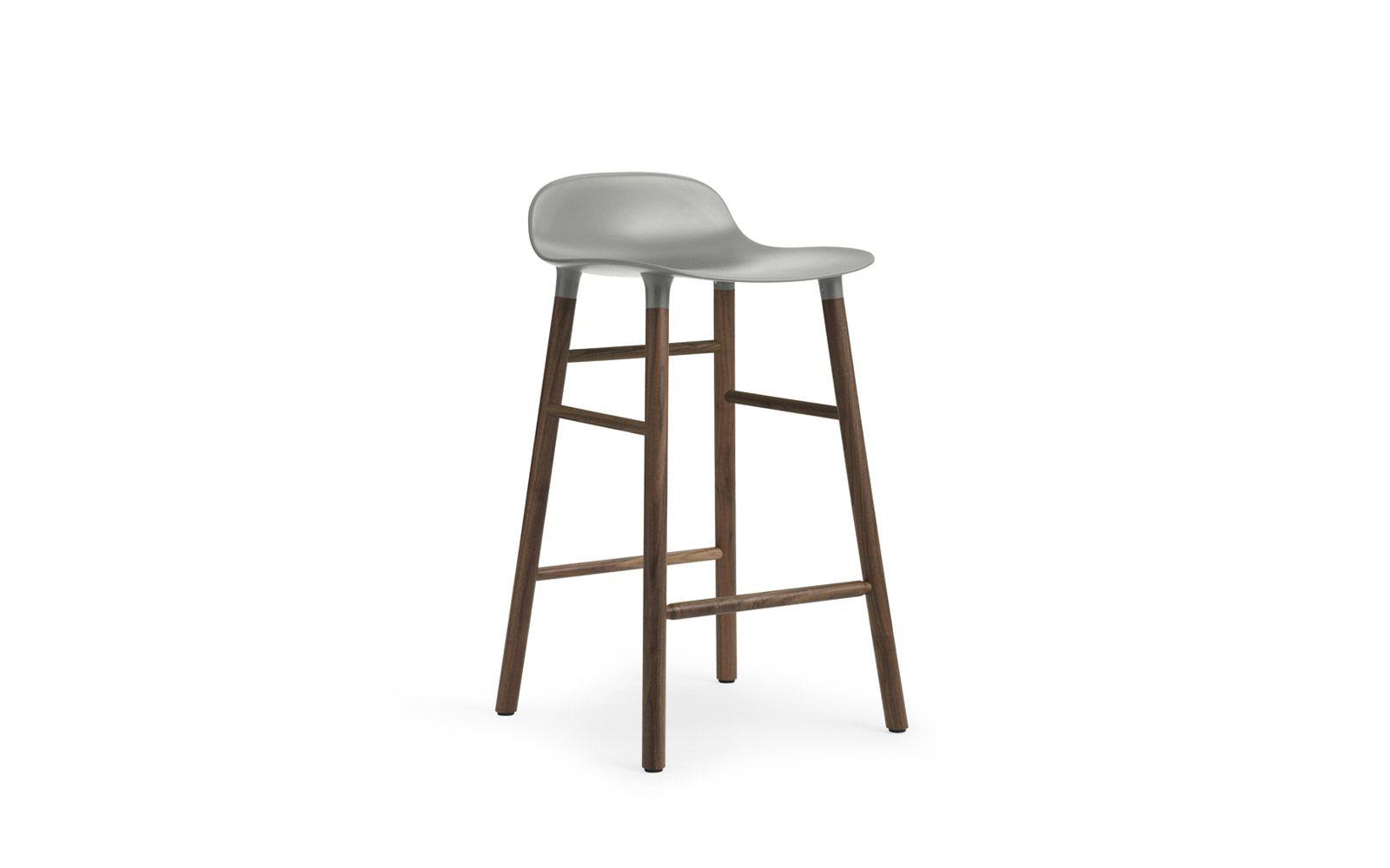 Swell Form Barstool Molded Plastic Shell Chair With Walnut Legs Machost Co Dining Chair Design Ideas Machostcouk