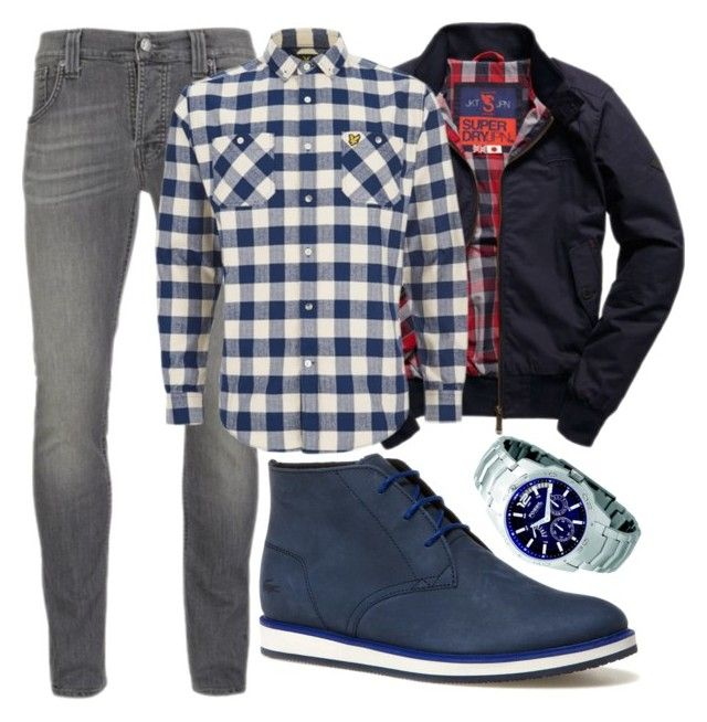 """""""Blue Boy"""" by ares-and-aphrodite on Polyvore featuring Nudie Jeans Co., Lacoste, Superdry, Lyle & Scott, FOSSIL, men's fashion and menswear"""