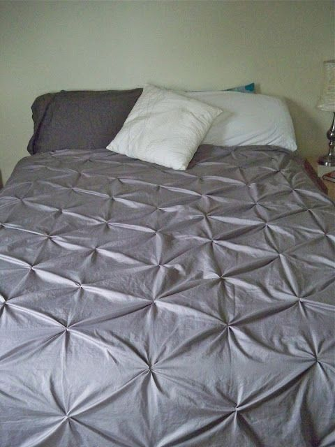 Be Sweetly Inspired Pintuck Duvet Cover From Rit Dyed Sheets Diy Duvet Duvet Cover Diy Pintuck Duvet Cover