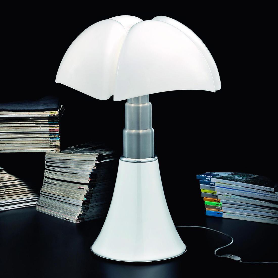 Lampe Blanc Pied Telescopique H66 86cm Pipistrello Lampe A Poser